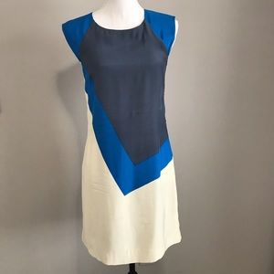 French Connection asymmetrical pattern dress